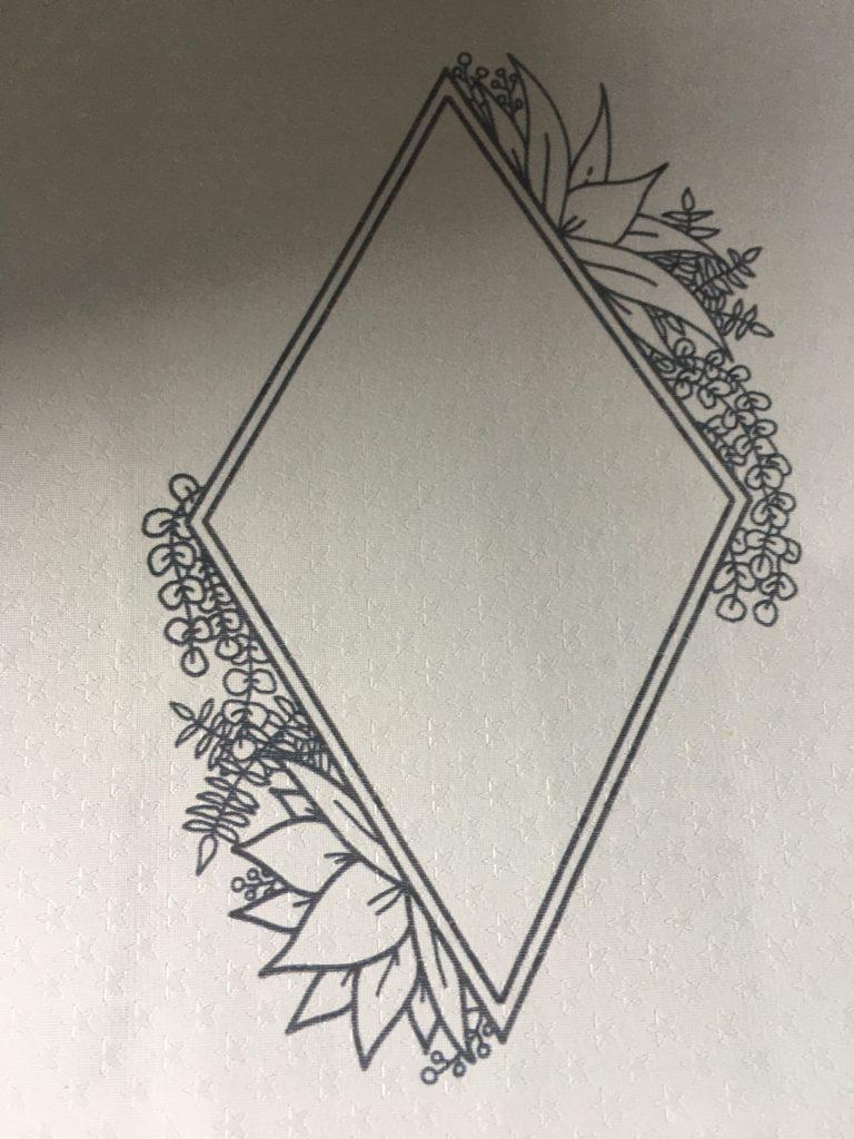 "The Joy Clair Design ""Succulent Frame"" printed onto Arctic Starstruck Rinea Foiled Paper"