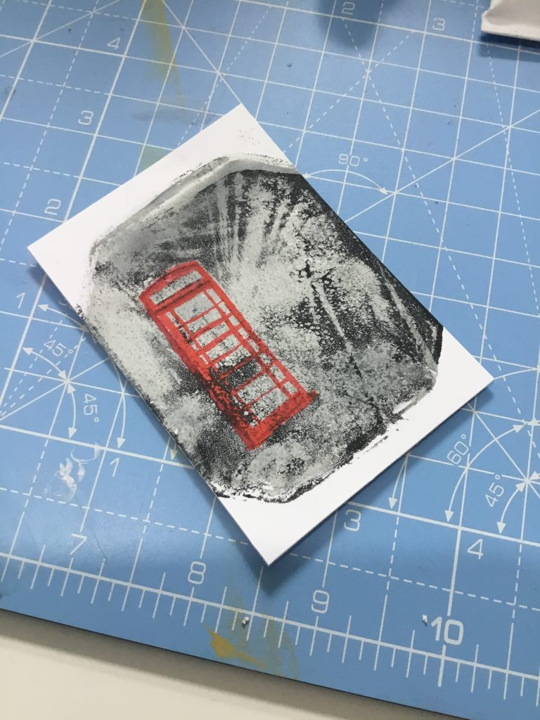 Gelli photo print background